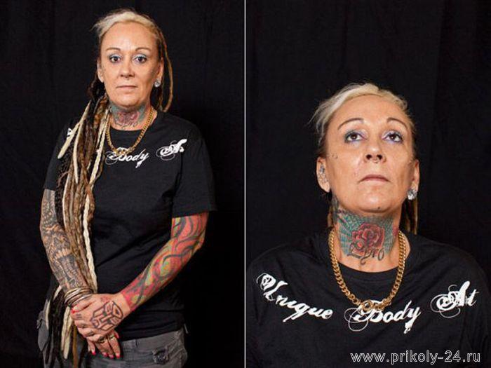 Большие татуировки (23 фото)