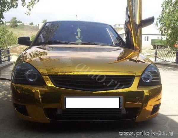 Золотая Лада Приора (4 фото)