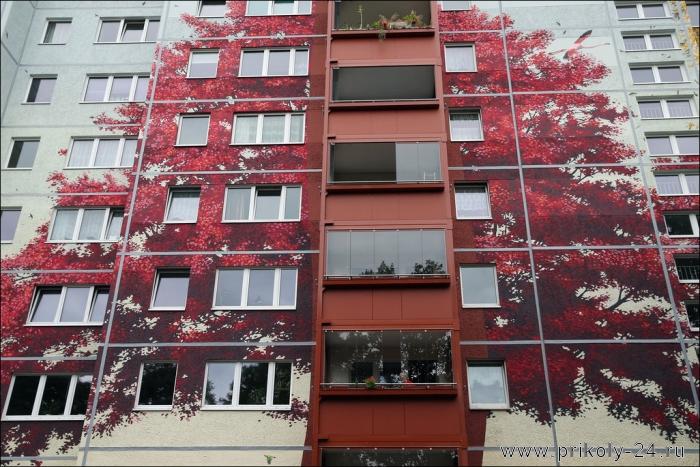 Фасады жилых домов фото