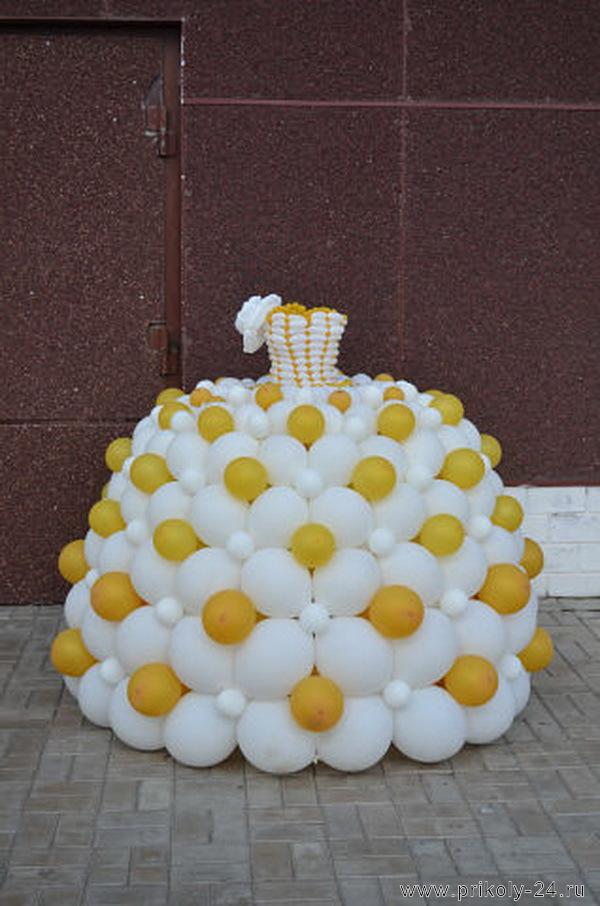 Платье из шариков для девочки своими руками 32