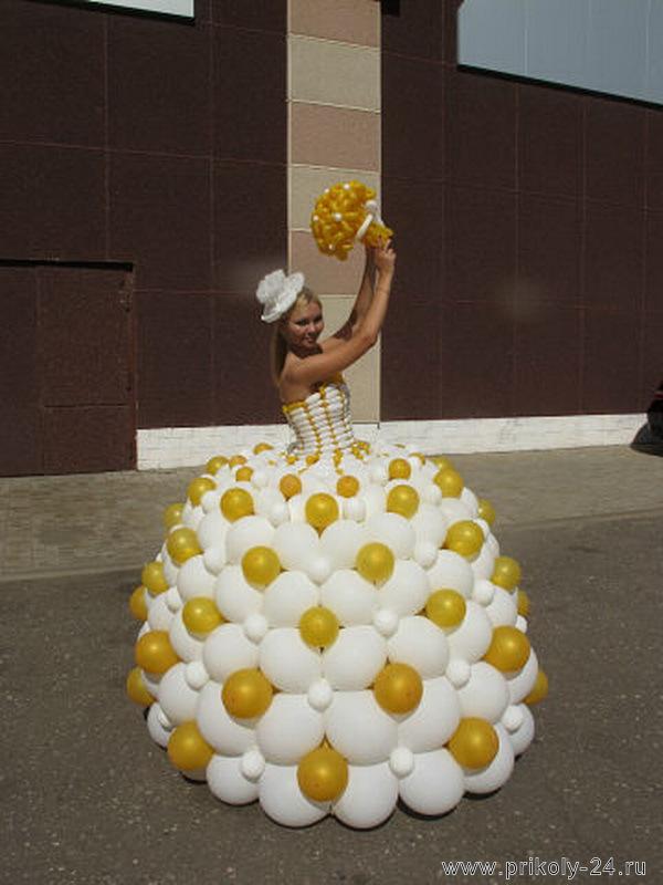 Платье из шариков для девочки своими руками 53