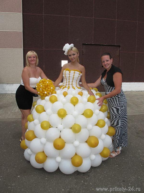 Платье из шаров мастер класс