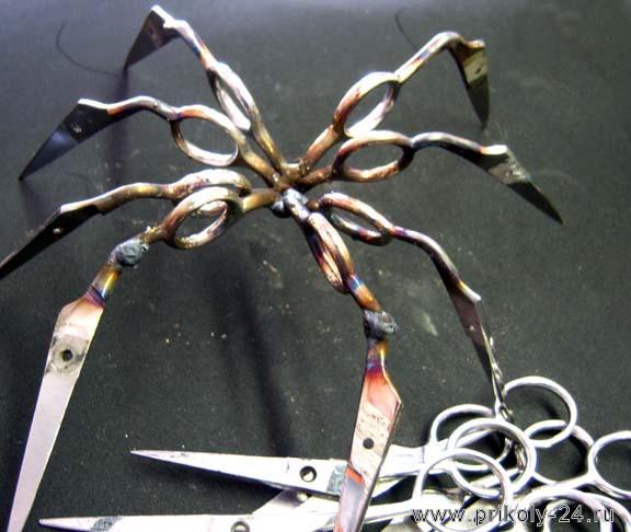 Как сделать паука из металла фото