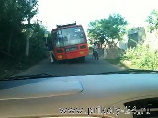 Перегруженый автобус