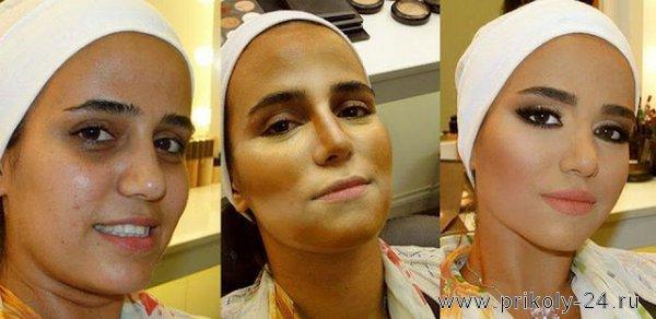 До и после профессионального макияжа