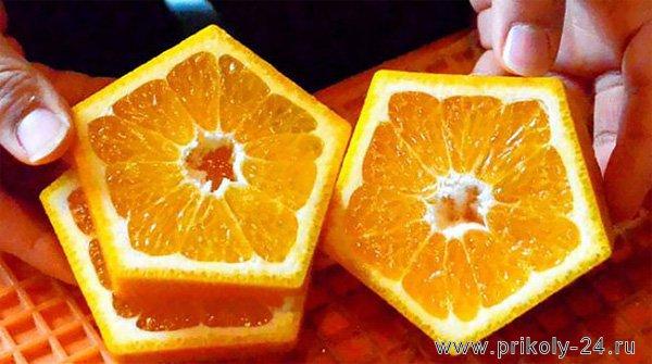 Пятиугольные апельсины (3 фото)