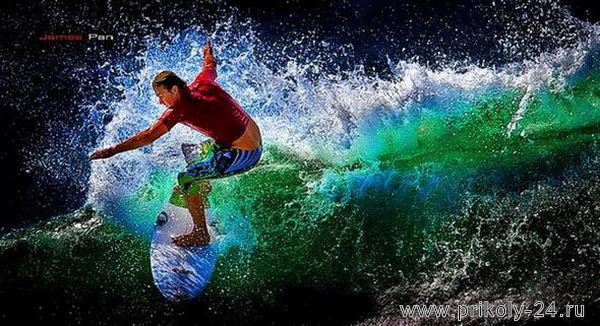 Красочные фото сёрферов (46 фото)